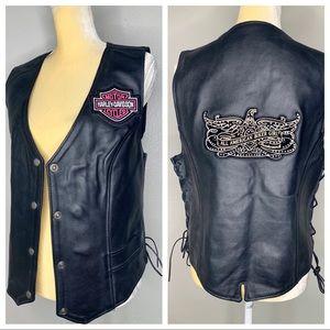 Harley-Davidson Leather All American Moto Vest 2XL
